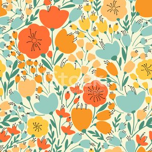 Springtime,Pattern,Flower,Floral Pattern,Retro Revival,Old-fashioned,Blossom,Vector,Seamless,Leaf,Wallpaper Pattern,Bouquet,Textile,Orange Color,Backgrounds,Elegance,Botany,Flower Head,Decoration,Multi Colored,Femininity,Pink Color,Flower Bed,Berry,Branch,Yellow,Summer,Beauty In Nature,Fabric Swatch,Plant,Repetition,Nature