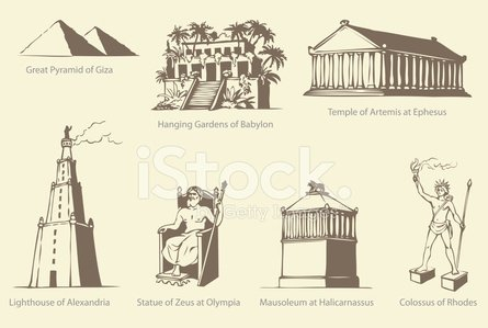 Alexandria - Egypt,Lighthouse,Colossus,Rhodes,Building Exterior,Built Structure,Greece,Ilustration,Vector,Pyramid,Artemis,Pyramid Shape,Temple of Artemis,Ancient,Babil,Goddess,Temple - Building,Egypt,The Past,Greek Goddess,Statue,Ephesus,Earth,Antiquities,Acropolis,God,Olympia,Giza,Silhouette,Mediterranean Sea,Formal Garden,Sun,Aegean Sea,Number 7,Fame,Monument,Famous Place,Architecture,Symbol,Ancient Civilization,Classical Greek,Mausoleum,Contemplation,Zeus,Antique,History,Cultures,Old,Cityscape,Awe,Hanging,Mediterranean Countries,Social History,Europe,Obsolete,Olympia - Washington State,Tomb