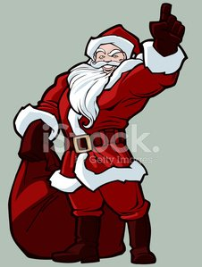 Carrying,Santa Claus,Symbol,Holiday,Celebration,Cartoon,Characters,Smiley Face,Cultures,Toy,Costume,Christmas,Gift,Traditional Clothing,Humor,Gesturing,Multi Colored,Happiness,Season,Event,Bag,Joy,Fantasy,Pointing,Drawing - Activity,Fun,Power,Smiling
