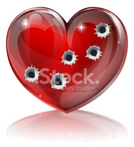 Heart Shape,Bullet,Pink Color,Hole,Abstract,Valentine's Day - Holiday,Dating,Day,Symbol,Breaking,Vector,Ilustration,Romance,Red,Gift,Isolated,Shape,Love,Broken,Passion,Blood