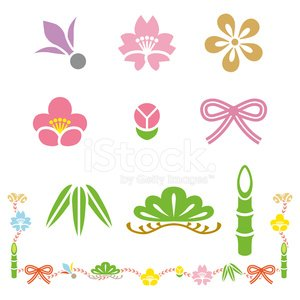 Japanese Culture,New Year's Day,Japan,Frame,Computer Icon,Cherry Tree,Plum Blossom,Bamboo,Shuttlecock,Pine Tree,Good Luck Charm,Retro Revival,Symbol,Cute,Bamboo Leaf,Vibrant Color,Cultures,Cherry Blossom,Bud,Simplicity,Vector,Single Line,Cartoon