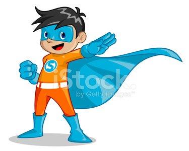 Superhero,Child,Little Boys,Mascot,Costume,Ilustration,Cartoon,Blue,Cheerful,Orange Color,Vector,Cape,Playful,Stage Costume,Mask,Protective Mask - Workwear,Smiling,Face Guard - Sport,Black Hair