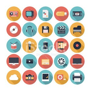 Computer Icon,Symbol,Flat,Icon Set,Music,Movie,Video,Television Set,Internet,Photograph,Design,Radio,The Media,Headphones,Camera Film,Camera - Photographic Equipment,Musical Instrument,Sound,Information Medium,Battery,Microphone,CD,Drum,Equipment,Interface Icons,Audio Equipment,Audio Cassette,Multimedia,Entertainment,Industry,Sign,Computer,Creativity,Playing,Modern,Vector,Play,Group of Objects,Ilustration,Set,Collection,Disk,Floppy Disk,MP3 Player,Piano,Elegance,Single Object