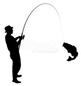 Fishing,Fisherman,Silhouette,Fish,Bass,Symbol,Vector,Leisure Activity,Ilustration,Fishing Reel,Rod,Catching,Male,Catch of Fish,Action,Black Color,Activity,Outdoors,Sport,Isolated