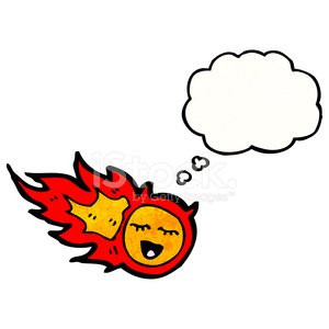 Cheerful,Rough,Bizarre,Comet,Fire - Natural Phenomenon,Thought Cloud,Clip Art,Drawing - Activity,Thinking,Meteorite,Ilustration,Asteroid,Fireball,Cute,Doodle,Thought Bubble