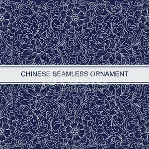 China - East Asia,Chinese Culture,Pattern,Seamless,Japanese Culture,Scroll Shape,Asia,Japan,Ilustration,Flower,Blue,Floral Pattern,Vector,Frame,Ornate,Backgrounds,Design Element,White,Leaf,Horizontal,Antique,Design,Beautiful,Abstract,Decoration,Contrasts,Elegance,Flourish,Monochrome,Style,Backdrop,Swirl,Cultures
