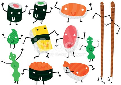 Human Leg,Running,Characters,Japanese Culture,Bean,Human Eye,Drawing - Art Product,Green Color,Human Arm,Orange Color,Yellow,Eggs,Human Face,Cute,Humor,Fun,Sushi,Prepared Fish,Salmon,Cold - Termperature,Variation,kawaii,Cool,Antropomorphic,Pink Color,Computer Icon,Raw Food,Seafood,Sashimi,Rolled Up,Cucumber,Prawn,Caviar,Tuna,Food,Ilustration,Vector,Chopsticks,Refreshment,Healthy Eating,Wasabi Sauce,Set,East Asian Culture,ISKawaii13,Freshness