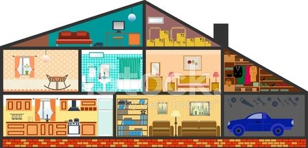 Home Interior,Domestic Room,Cityscape,Indoors,Inside Of,Cut Out,Bedroom,Vector,Sofa,Modern,Car,Living Room,Residential District,Construction Industry,Architecture,Kitchen,Plan,Furniture,Side View,Wall,Cottage,Frame,Garage,Boiler,Domestic Bathroom,Bookshelf,Closet,Flooring,Image,Facade,Balcony,Roof,Ilustration
