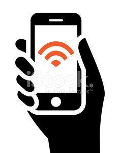 Symbol,Computer Icon,Smart Phone,Human Hand,Telephone,Mobile Phone,People,Wireless Technology,Holding,Radio Wave,Wave Pattern,Radio,Internet,Free Of Charge,Sign,hotspot,Ilustration,Connection,Radar,White Background,Vector,Isolated,Showing