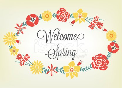 Welcome spring greeting card ellipse floral template stock vectors welcome spring greeting card ellipse floral template m4hsunfo