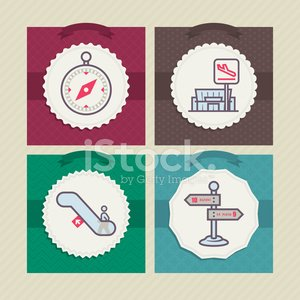 Red,Compass,Airport,Vacations,Road Sign,Sign,Summer Break,Symbol,Blue,Green Color,Vector,Travel,Escalator,Leaving,Pink Color,Purple,Brown