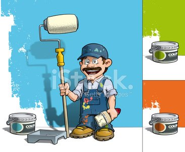 Ilustration,House Painter,Wall,Repairman,Blue,Craftsperson,Uniform,Building Contractor,Cartoon,Home Decorator,Paint Roller,Smiling,Car Bodywork,Home Improvement,Job - Religious Figure,Green Color,Bucket,Occupation,Colors,Cheerful,Happiness,Multi Colored,Baseball Cap,Sketch,Painting,Paintbrush,Joy,Accessibility,Construction Industry,Orange Color,Drywall,Home Decorating,Paint,Mascot,Manual Worker,Characters,Home Addition,Construction Worker,Can