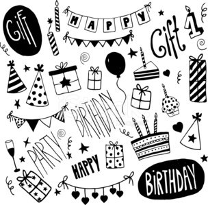 Birthday,Black And White,Sketch,Ribbon,Party - Social Event,Cupcake,Sweet Food,Wine,Doodle,Cake,Gift,Balloon,Ink,Drawing - Art Product,Pattern,Magic Trick,Surprise,Alcohol,Food,Champagne,Cartoon,Design Element,Chocolate Candy,Fun,Collection,Candy,Anniversary,Pencil Drawing,Remote,Star Shape,Candle,Decoration,Happiness,Heart Shape,Confetti,Set,Smiling,Pencil,Design,Number,Vector,Magic,Cap,Chocolate,Ilustration,Celebration,Holiday