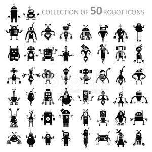 Robot,Symbol,Alien,Retro Revival,Toy,Sign,Futuristic,Cyborg,imagery,People,Ilustration,Cute,Cheerful,Computer,Machinery,Smiling,Part Of,Vector,Abstract,Collection,Backgrounds,Humor,Technology,traits,Science