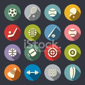 Volleyball,Symbol,Soccer,Football,Flat,Green Color,Icon Set,Sign,Target,Sport,Golf,Modern,Handball,Sports Team,Snooker,Set,Circle,Equipment,Individuality,Tennis,Archery,Design,Ball,Shadow,Table,Rugby,Connection,Picking Up,Basketball,Multi Colored,Badminton,Internet,Racket,Pool Game,Baseball - Sport