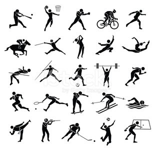 Sport,Silhouette,Computer Icon,Symbol,Icon Set,Table Tennis,Skiing,Swimming,Sign,Horse,Black Color,Boxing,Exercising,Diving,Soccer,Field Hockey,Cycling,High Jump,Kung Fu,Golf,Activity,Gymnastics,Leisure Activity,Athlete,Recreational Pursuit,Set,Fencing,Shooting at Goal,Volleyball - Sport,Skateboard,Skateboarding,Tennis Sport,Roller Hockey,Discus,Tae Kwon Do,Rugby,People,American Football - Sport,Basketball - Sport,Ice Hockey,Ilustration,Vector,Stick - Plant Part,Tennis