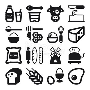Computer Icon,Symbol,Dairy Product,Flour,Sack,Yogurt,Butter,Cheese,Sugar,Milk Bottle,Wheat,Honey,Breakfast,Bakery,Eggs,Milk,Flat,Bread,Food,Black Color,Wire Whisk,Strawberry,Cream,Dessert,Fried Egg,Windmill,Set,Bottle,Whipped Cream,Sign,Toast,Toaster,Rolling Pin,Cooking