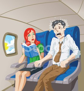 Airplane,Fear,Terrified,Flying,Business Travel,Phobia,Anxiety,Travel,Travel Destinations,Journey,Wife,Horror,Husband,Talking,Vehicle Seat,Window,agoraphobia,Shouting,Worried,Gripping,Commercial Airplane,fear of flying,Men,Businessman,Illness,Women