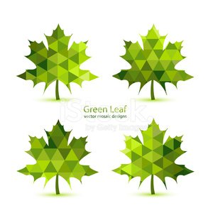 Green mosaic vector maple leaf stock vectors - Fall landscaping ideas a mosaic of colors shapes and scents ...