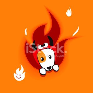 Dog,Jack Russell Terrier,Devil,Halloween,Flame,Costume,Cute,Peeking,Heat - Temperature,Terrier,Vector,Pets,Fireball,Puppy,Fire - Natural Phenomenon,Ilustration,Animal,Trick Or Treat,Red,Burning,Orange Color