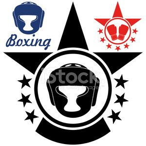Vector,Boxing,Fighting,Sport,Sign,Rivalry,Boxing Glove,Red,Design Element,Head Protector,Symbol,Set,Competition,Black Color,Isolated,Victory,Success,Star Shape,Healthy Lifestyle,Winning,Insignia