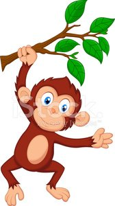 Monkey,Ape,Cartoon,Tropical Rainforest,Animal,Hanging,Forest,Playful,Young Animal,Mascot,Happiness,Mammal,Fun,Cute,Branch,Playing,Brown,Chimpanzee,Characters,Smiling,Activity,Africa,Safari Animals,Ilustration,Humor,Cheerful,Vector,Toy,Animals In The Wild,Plant,Showing