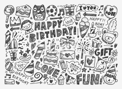 Child,Drawing - Art Product,Pencil Drawing,Drawing - Activity,Ilustration,Doodle,Sketch,Symbol,Celebration,Party - Social Event,Birthday,Heart Shape,Cartoon,Fun,Candy,Vector,Cheerful,Surprise,Joy,Holiday,Balloon,Gift,Black Color,Happiness,Hat,Cupcake,Decorating,Cake,Ribbon,Design,Crown,Love,Candle,Flag,Bird,Set,Design Element,Hand Draw