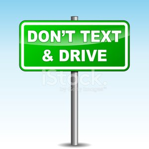 Driving,Mobile Phone,Text Messaging,Road Sign,Crash,road-sign,Telephone,Sign,Green Color,Car
