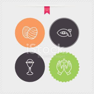 Christianity,Sign,Eggs,Easter Egg,Chalice,Praying,Cross,Human Hand,Passover,Green Color,Symbol,Vector,Orange Color,Black Color,Gray,Easter