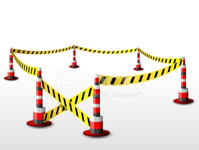 Cordon Tape,Security,Striped,Vector,Bollard,Safety,Single Line,Architectural Column,Ribbon,Boundary,Enclosure,Fence,Black Color,Red,Alertness,Danger,Yellow,Problems,Protection,Quarantine,Remote