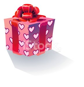 Gift Box,Valentine's Day - Holiday,Birthday Present,Box - Container,Pink Color,Gift,Red,Heart Shape,Celebration,Holiday,Vector,Ilustration,Birthdays,Holidays And Celebrations,Valentine's Day,Party - Social Event,Ribbon,Cute,Bow