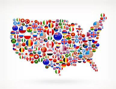 USA Map World Flags Royalty Free Graphic stock vectors ...