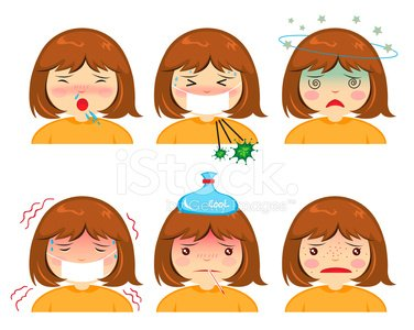 Fever,Headache,symptoms,Child,Cold And Flu,Illness,Cartoon,Ilustration,Characters,Thermometer,Isolated,Touching,Cold - Termperature,Computer Bug,Depression - Sadness,Sadness,Vector,Allergy,Bacterium,Healthcare And Medicine,Virus,Set,Healthy Lifestyle,Medical Exam,Human Face,Unwell,Humor