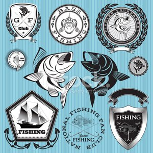 Fishing,Fishing Industry,Bass,Competition,Fisherman,Nautical Vessel,Fish,Shield,Hook,Retro Revival,Old-fashioned,River,Club,Organized Group,Silhouette,Fishing Hook,Certificate,Vector,Anchor,Water,Seafood,Seal - Stamp,Insignia,Catfish,Badge,Sea,Sign,Banner,1940-1980 Retro-Styled Imagery,Sports Training Camp,Label,Summer Camp,Ilustration,Exploration,Food,Monochrome,Isolated,Success,White,Float,Watermark,Old,Postage Stamp,Industrial Ship,Backgrounds,Placard,Ship,Ribbon,Symbol,Design,Business