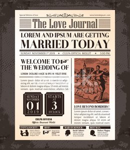 Newspaper,Retro Revival,Old-fashioned,Invitation,Obsolete,Old,Page,Backgrounds,Victorian Style,tabloid,template,Calendar Date,Artificial,Plan,Bride,Celebration,Wedding,Vector,Design,Creativity,Greeting,Greeting Card,Front View,Blank,Ideas,Magazine,Text,Art,Bridegroom,Engagement,Computer Graphic,Mock Up,Classic,Event,Married,Ilustration,Concepts