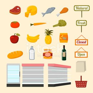 Supermarket,Aisle,Chicken,Sign,Refrigerator,Flat,Store,Vegetable,Healthy Eating,Group of Objects,Icon Set,Fruit,Market,Meat,Shopping Cart,butchery,Wine,Marketing,Prepared Fish,Milk,Green Color,Nature,Isolated,Freshness,Breakfast Cereal,Vector,Merchandise,Set,Wine Bottle,Shelf,Bread,Milk Bottle,Carrot,Drink,Packaging,Food,Ilustration,Environment,Cheese,Dairy Product,Shopping,Collection,Apple - Fruit