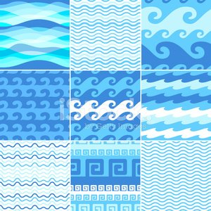 Swimming Pool,Water,Wave Pattern,Swimming,Wave,Seamless,Classical Greek,Textured Effect,Nautical Vessel,In A Row,Retro Revival,Blue,Pattern,Simplicity,Flowing,Backgrounds,Decoration,Curve,Collection,Decor,Set,Design,Vector,Art,Sea,Ilustration,White