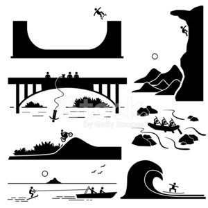 Symbol,Computer Icon,Landscape,Stunt Person,River,Bungee Jumping,Silhouette,Jumping,Cliff,Motocross,Moving Up,Climbing,Surfing,Mountain,Rock Climbing,Risk,Stunt,Cartoon,Action,Sea,Rock - Object,Stick Figure,Rafting,Water,Extreme Sports,Leisure Games,Cycling,Sport,Scenics,Men,Lifestyles,Mountain Climbing,Skateboarding,Activity,Bicycle,Danger,Stick - Plant Part,People,Conquering Adversity,Wave,Backgrounds,Motion,The Human Body,White,Vector,Challenge,Outdoors