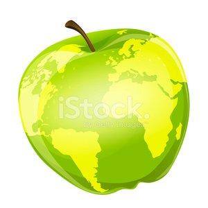 Apple - Fruit,Globe - Man Made Object,Planet - Space,Image,Ilustration,Decoration,Environment,Single Object,Physical Geography,Vector,Symbol,Nature,Cartography,Fruit,Green Color,Cartoon,Isolated,No People