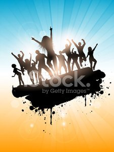 Beach Party,Dancing,Party - Social Event,Tropical Climate,Vector,Backgrounds,Sunny,Sun,Sunlight,Heat - Temperature,Emo,Eps10,Silhouette,Summer,Beach,Party People,Sea,Back Lit,Landscape,Grunge,Vacations,Sky,People,Disco Dancing,Tropical Party,Ilustration
