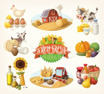 Farm,Chicken - Bird,Crop,Sign,Organic,Field,Cow,Animal Egg,Eggs,Agriculture,Goat,Hay,Healthy Eating,Cheese,Corn - Crop,Stack,Ilustration,Corn,Vegetable,Cabbage,Vector,Design Element,Leaf,Bakery,Fruit,Nature,Diary,Wheat,Healthy Lifestyle,Apple - Fruit,Juice,Milk,Barn,Plant,Eggplant,Milk Bottle,Sunflower,Freshness,Onion,Label,Tree,Preserves,Whole Wheat,Green Color,Set,Cooking Oil,Eating,Combine Harvester,Harvesting,Lifestyles,Ribbon,Food,Olive Oil,Environmental Conservation,Ranch