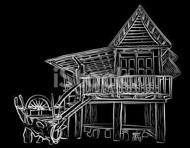Wooden House Sketch