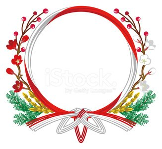Japan,Japanese Ethnicity,Japanese Culture,New Year Card,Japanese New Year,New Year,Wreath Decoration,Creativity,Vector,Ornate,Decoration,Wreath,White Background,Concepts,Material,Ilustration,Clip Art,Traditional Festival,Isolated On White,New Year's Day,Cultures