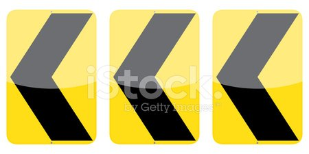 Street,Three Objects,Vector,Isolated,Computer Icon,Sign,Traffic,Road Sign,Chevron,Order,Ilustration,Arrow Symbol,Left Handed,Set,Chevron Road Sign,Single Object,Black Color,Direction,Curve,Yellow