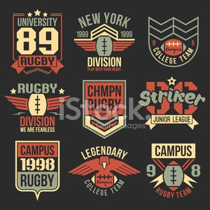 Retro Revival,T-Shirt,Football,American Football - Sport,Campus,Shield,Rugby,University,Athlete,Sports Team,Chevron Corporation,Sparse,Power,Eagle - Bird,Lightning,Design,Red,Success,Action,American Culture,Old-fashioned,Courage,Text,Number,Star Shape,Set,Education,Insignia,Equipment,Sports League,Colors,Composition,Vector,Rebellion,Computer Graphic,Brown,Yellow,Branding,Flat,Play,Drawing - Art Product,Black Color,Sport,Ball,Print,Label,Luxury