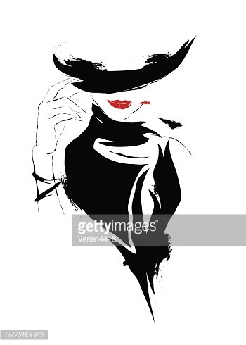 People,Bizarre,Town,Hat,Human Lips,Hairstyle,Shape,Red,Cylinder,Autumn,Adult,Cabaret,Illustration,Showgirl,Women,Vector,Funky,Fashion,