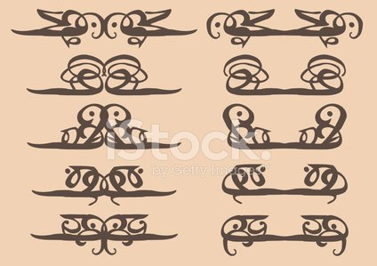 Arabesque style vintage decorative design elements stock for Arabesque style decoration