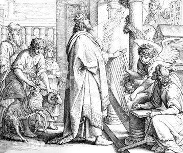 Bible,Judaism,Christianity,Pencil Drawing,Praying,Old,Catholicism,Psalms,Religion,Man Made Object,Fine Art Painting,Testaments,Old Testament,Book,Art Product,Image Created 1860-1869,David - Biblical King,Fairy Tale,Black And White,Engraved Image,Storytelling,King,Paintings,Religious Equipment,Spirituality,Event,History,Art,Harp,Illustration Technique,Antique,Painted Image,New Testament,Engraving,Religious Illustration,1860,Ilustration,Royal Person,Picture Book,Fantasy,Old-fashioned,People,Symbol,Holy Book,Religious Text,Royalty,Image Created 19th Century