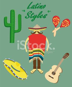 Latin American and Hispanic Ethnicity,Indigenous Culture,Maraca,Backgrounds,Sign,Friendship,National Landmark,Hat,Pattern,Fashion,Nachos,Day,Cultures,Ilustration,Vector,Carnival