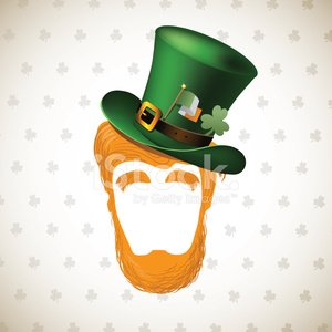St. Patrick's Day,Leprechaun,Springtime,Hat,Luck,Beard,Leaf,Costume,Clover,Cultures,Celebration,Celtic Culture,Human Hair,Flag,White,March,Greeting Card,Ilustration,Caucasian Ethnicity,Eyebrow,Disguise,Irish Culture,Image,Gold Colored,Green Color,Holiday,Gold